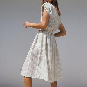 VINTAGE 80'S BELTED COTTAGECORE SUMMER DRESS